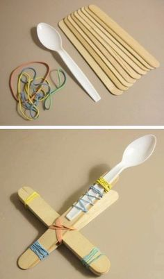DIY Craft Stick Catapults -- 29 clever crafts for kids that adults will actually enjoy doing, too! www.funflicks.com