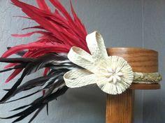 Heiva Ori Tahiti side headpiece | CaliforniaHulaCenter - Clothing on ArtFire