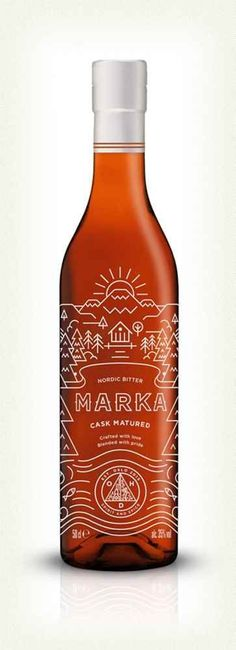 (70) Marka Nordic Bitter using awesome line art illustration