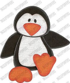 S~ 3D PENGUIN ~ Scrapbook Embellishment TM425