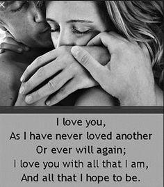 And if I never love anyone this much, ever again, it will be a relief!!! Because the times I thought that it was over nearly destroyed me!