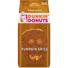 Dunkin' Donuts Pumpkin Spice Ground Coffee 11 oz : Target (155 BRL) ❤ liked on Polyvore featuring food