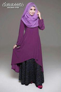 gathering styles for my daughters . Hijab Chic, Hijab Style, Abaya Fashion, Modest Fashion, Girl Fashion, Muslim Women Fashion, Islamic Fashion, Beautiful Muslim Women, Beautiful Hijab