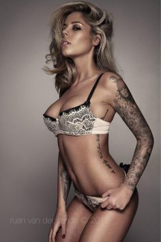 Beautiful blonde tattoos multiple piercings milf 2006
