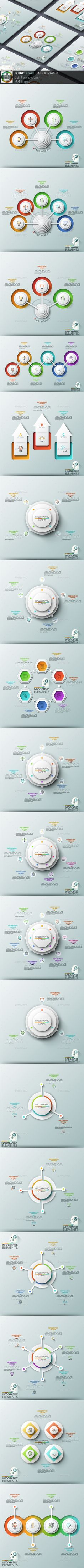 Pure Shape Infographic. Set 11 - #Infographics Download here: https://graphicriver.net/item/pure-shape-infographic-set-11/20447882?ref=alena994