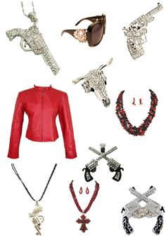 For the Love of Pistols Jewelry and Accessories available at www.dallyup.com (Sorry, clothes not available)