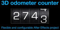 """Odometer number counter by CinnamonVisualFX This After Effects project generates an """"odometer"""" style number counter.The odometer is easily adjusted to show between 3 and 6 di"""
