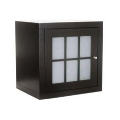 Foremost Zen Stackable Cube with Glass Door in Espresso-ZEEW1814 at The Home Depot