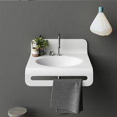 Planit - Wave bathroom Countertop in Corian