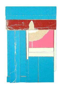 RYAN SARAH MURPHY - Claim , 2012. Found cardboard, 6 x 4 inches