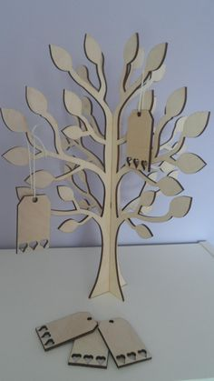 30cm Wedding wish tree with tags wooden wish by CalicoBespokeGifts, £22.00