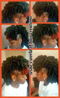 Crochet braids with braided sides
