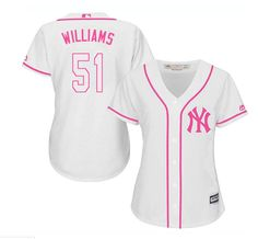 168263cd8bc Women's Majestic New York Yankees #51 Bernie Williams Authentic White  Fashion Cool Base MLB Jersey