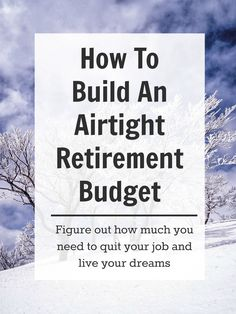 How to build a good, data-based retirement budget. Get secure enough to quit your job and live your dreams! Retirement Budget, Preparing For Retirement, Retirement Advice, Investing For Retirement, Early Retirement, Retirement Planning, Retirement Savings, Retirement Benefits, Retirement Cards