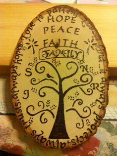 Love is patient wood burned signed by bitchNstitch2013 on Etsy