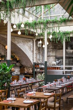 Lushy greenery and bags of natural light lend new Portuguese eatery, Casa do Frango, a pleasing al fresco feel. Wood Charcoal, London Restaurants, Cafe Restaurant, Restaurant Interiors, Cafe Interior, Cool Bars, Coffee Shop, Greenery, Dining