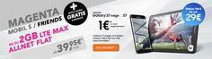 Telekom Magenta Mobil S ab 39,95€ mit TOP-Smartphone für 1€ http://www.simdealz.de/telekom/magenta-mobil-s-mit-top-smartphone/