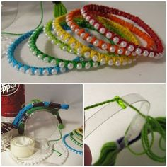 Bracelets from plastic bottles