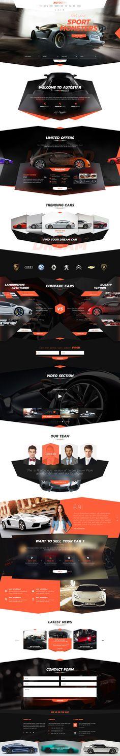 Autostar PSD Template | Download here : https://themeforest.net/item/autostar-psd/18973072?ref=sinzo #PSD #template #inspiration