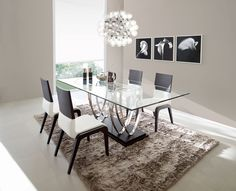 then we will go to the dining room to see what food menu the mother has served. Dining Room Centerpiece, Glass Dining Room Table, Dining Table Design, Dining Room Furniture, Home Furniture, Dining Chairs, Dinning Set, Dining Area, Living Room Decor