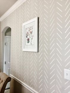 Herringbone simple Large Wall stencil – Herringbone stencil and Scandinavian stencil pattern for DIY projects – Wall stencils, Stencilit - Accent Wall Large Wall Stencil, Stencil Diy, Stencil Walls, Wall Painting Stencils, Bathroom Stencil, Bathroom Accent Wall, Wallpaper Stencil, Painting An Accent Wall, Wallpaper For Walls