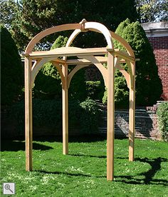 Parramatta Wedding Arbor -- this is lovely architecture. It'd be a wonderful place to start! (You should have Daddy build you this one, Stina. You can decorate it however you want!)