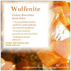 Wulfenite crystal meaning