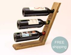 $37.50 Reclaimed Wood Wine Rack Wine Caddy, Wine Display, Wood Wine Racks, Bandy, Wine Design, Wine Time, Made Of Wood, Woodworking, Craft Ideas