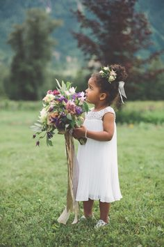 This little flower girl just melts your heart! Photography: The Nickersons - thenickersons.ca   Read More on SMP: http://www.stylemepretty.com/canada-weddings/2017/01/16/grab-the-tissues-this-wedding-story-will-melt-your-heart/
