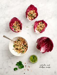 Chickpea Radicchio Wraps / Love and Lemons