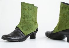 Handmade Spats in Floral Green by mandaringold on Etsy, €49.00