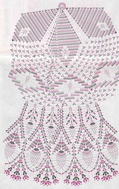 Crochet Doily Diagram, Crochet Doily Patterns, Crochet Motif, Free Crochet, How To Start Knitting, Learn To Crochet, Blackwork Patterns, Crochet Dollies, Pineapple Crochet