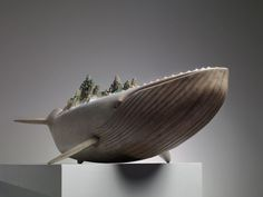 Dreamscape animal sculptures by wang ruilin - wale front