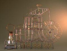 Bandhu Scott Dunham teaches lampwork glass at Brookfield Craft Center