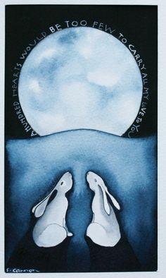 by Sam Cannon Art Journal Inspiration, Painting Inspiration, Gouache, Sam Cannon, Year Of The Rabbit, Rabbit Art, Bunny Art, Whimsical Art, Watercolor Art