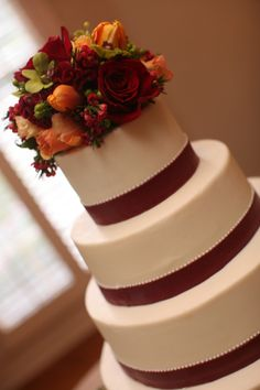 Earth Friendly Harvest Wedding cake#Cedarwoodweddings
