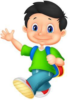 Illustration of Happy little girl cartoon vector art, clipart and stock vectors. Little Girl Cartoon, Student Cartoon, Boy Illustration, School Clipart, Boy Images, School Boy, Cartoon Pics, Young Boys, Caricature
