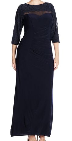 Nice Xscape NEW Blue Navy Women's Size 20W Plus Maxi Lace Ruched Dress $229- #087 2017-2018 Check more at http://dressesshop.top/product/xscape-new-blue-navy-womens-size-20w-plus-maxi-lace-ruched-dress-229-087-2017-2018/