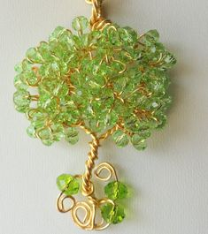 Spring tree of life pendant, wire wrapped pendant , tree of life jewelry, nature inspired, original design by - banyasjewelry