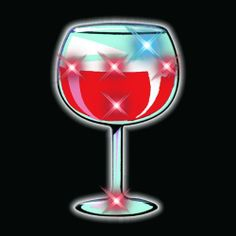 Wine Glass Flashing Blinking Light Up Body Lights Pins (5-Pack) by FlashingBlinkyLights, Inc.. $9.79. To activate, twist backing clockwise. To deactivate, twist counterclockwise.. All products are CPSIA Compliant. Use for decoration anywhere - the possibilities are endless.. Includes Replaceable Low Mercury Batteries. Wine Glass Body Lights are great for all kinds of occasions. Parties, Receptions, and a whole lot more! Pick up some today!