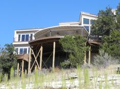 Elevated Deck in Austin. Raised decks are great for properties with slopes