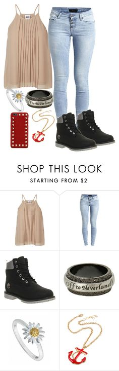 """~Casual~"" by fashstyle16 ❤ liked on Polyvore featuring Vero Moda, Object Collectors Item, Timberland, Disney, Daisy Jewellery, Amrita Singh and Valentino"