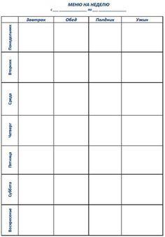 Экономная хозяйка. Часть 4 - Как составить меню на неделю.. Обсуждение на LiveInternet - Российский Сервис Онлайн-Дневников