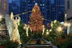 We try to go to Rockerfeller Center in NYC at Christmas time each year.