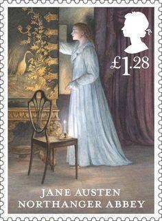 jane austen stamp northanger abbey