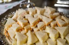 """Tea sandwiches prepared with pimento cheese (a Southern specialty) and shrimp paste are perfect """"one-bite appetizers."""" Patricia Altschul's Derby Party is full of Southern Charm- The Glam Pad"""