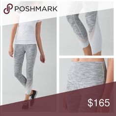Lululemon silver spoon wee stripe tights Sz 2 Great condition cheaper through 🅿️🅿️ lululemon athletica Pants Leggings