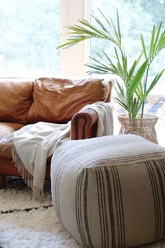 Add more seating to a room with poufs. Home Decor.
