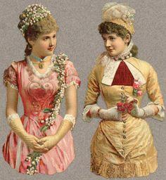 Victorian Scrap — Beautiful Ladys  (624x679)