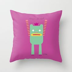 PINTMON_011 Throw Pillow by PINT GRAPHICS - $20.00